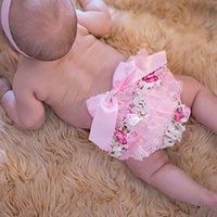 Wholesale Whole Baby Bloomers Girls Pettiskirt TUTU Underwear Pants Toddle Kids Underpants Infant Newborn Ruffled Satin PP Pants Kids Clothing