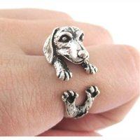Wholesale 60pcs Vintage Hippie Pet Jewelry Dog Rings Fashion D Pet Rings For Men and Women
