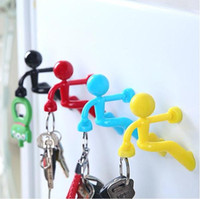 Wholesale Creative Mini Strong Man Magnetic Key Pete Wall Climbing Magnet Holder Rack Hook Refrigerator Sticker