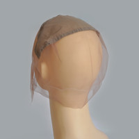 Wholesale Brown Full Lace Wigs Caps For Making Wigs Glueless Human Hair Wigs Cap Medium Brown Color Medium Size Wig Cap