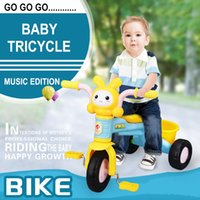 Wholesale Kids Bikes Tricycle Baby Walker Bicycle Electrico Music Cartoon Children s Control Bicycles Ride On Toys Three wheeled Bicycle