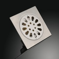 Wholesale Finish Brushed Shower Floor Drain Strainer Cover Sink Bathroom Drains Stainless Steel Product