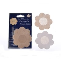 adhesive body bra - Cubrepezon Flower Adhesive Nipple Covers Pads Body Breasts Stickers Disposable Milk Paste Anti Emptied The Chest Paste Bra