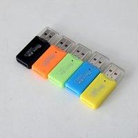 Wholesale 2017 x50 Epacket High Speed USB Micro SD card T Flash TF M2 Memory Card Reader adapter gb gb gb gb gb gb TF Card