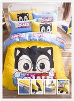 Wholesale Cotton sheets pieces of cartoon quilt student dormitory children s cartoon bed sets cotton twill children s bed sheets one from the grant