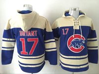 Wholesale Cheap kris Bryant Blue Hoodie Chicago Cubs Baseball Sweaters Javier Baez Schwarber Anthony Rizzo Jake Arrieta Available