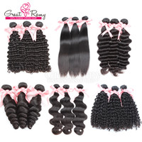 European Hair beautiful bodies - 3pcs Brazilian Hair Extensions beautiful Hair Weave Wefts Natural Color deep curly wavy Hair Bundles Greatremy Promotion Sale