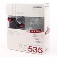 al por mayor célula auricular-Auriculares del En-Oído del teléfono celular SE535 (rojo) Un envío de la gota de la calidad