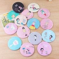 Wholesale New cute fifi lapin hand make up Mirror portable pocket cosmetic mirror Fashion Printing logo cosmetic mirror
