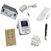 Wholesale Tattoo Machines Digital Intelligent Permanent Makeup eyebrow lip machine Kit swiss motor gun power supply needles