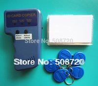 Wholesale RFID Handheld Duplicator KHZ Card copier writer EM4305 rewritable tags T5577 rewritable cards
