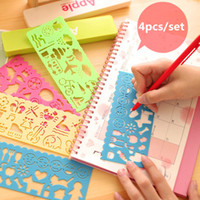 Wholesale Kids Ruler Drawing Student School Stationery Supplies Candy Color Drawing Ruler Versatility Variety Geometric Sketchpad Children Toys Gifts
