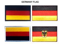 achat en gros de broderie bouclier-VP-122 3.15 * 2 pouces Drapeau Allemagne 3D Drapeaux de broderie badges avec bâton magique Patchs de bouclier Eagle Patch extérieur de l'armée