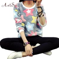 Wholesale ArtSu New Womens Winter Long Sleeve Pullover Jacket Sweater Coat Hooded Jumper Tops EPHO80045