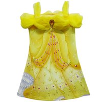 Summer bella girls clothing - NEWEST Bella Cosplay Costume Kids Clothes Beauty and The Beast Girls Princess Dresses Summer Kids Dress Printed Cartoon Children s Day Gift