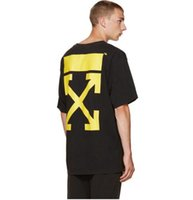 arrow stamp - off white liquid spots short sleeve t shirt with back ARROW stamp tee shirt