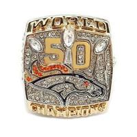 Wholesale Miller Denver Broncos Super Bowl Zinc Alloy Championship Rings