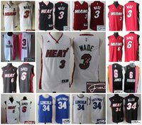 basketball ray allen - AA Basketball Miami Signature Signed Jersey Dwyane Wade LeBron James Ray Allen Heat Retro Jersey Throwback Stitched Jersey