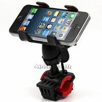 adjustable handlebars - Universal Bike Bicycle Mount Degree Rotatable Rotation adjustable Bracket Holder Dual Clip Handlebar for iphone Samsung Cell phone GPS
