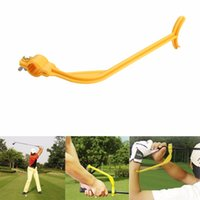 Wholesale 2017 High quality Golf Practice Swing Educational Trainer Guide Gesture Alignment Training Wrist Correct Aid Plane Tool Club
