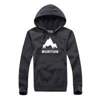 Wholesale New Autumn Winter Burton Printed Hoodies Men Casual Fleece Long Sleeve Overcoat High Quality Male Hip Hop Pullover Sweatshirts
