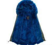 2017 г. Г-н Г-жа Itlay синий шерсти кролика Rex подкладке зеленый черный камуфляж пальто Mr Mrs мехов Военные холст парок женщин куртки продажа