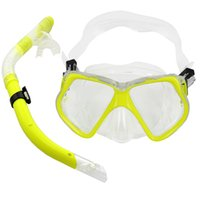 Wholesale Super sell Adult Glass PVC Swimming Swim Diving Scuba Anti Fog Goggles Mask Snorkel Set