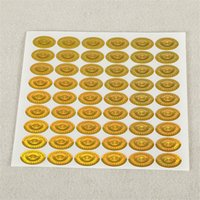 Wholesale Customize Hologram Stickers Personalized holographic stickers Anti fake Security Laser Business labels sticker cheap price sticker printing