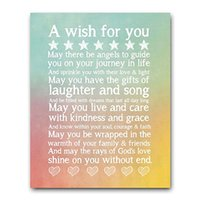 Wholesale Chalk Sign Kids Wall Art Chalkboard Let Angels Guild You Chalk Sign Wall Decoration Home Chalkboard