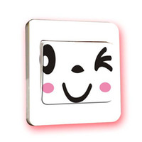 Wholesale Switch stickers cartoon color transparent removable PVC wall stickers