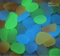 Wholesale Factory outlet New arrival Luminous Pebble Stone Lightweight garden fish tank swimming pool Decoration stones kilogram free shippig