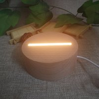 Wholesale LED Lamp Base for D Illusion Acrylic Light Panel AA Battery or DC V Factory free DHL