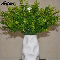 artificial money plant - Factory Direct Sales Artificial Flower New Pattern Aquatic Plants Fork Money Leaves Home Decor AQ1012