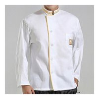 best cook tops - Lstest Version Autumn Chef Uniform Work Clothes Cook Overall Tops Full Size Best Selling White Color Cotton Delicate Craft