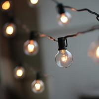 50Ft G40 Bulb Globe String Lights With Clear Bulbs Backyard Patio Lights,  Vintage Bulbs ,Decorative Outdoor Garland Wedding