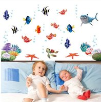 bath stickers for babies - nemo fish cartoon wall sticker for shower tile stickers in the bathroom for children kids baby on bath AY617