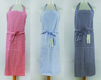 Wholesale 100 print apron classical checker design multi color