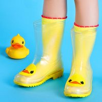 baby girl rain boots - Children Transparent Rain Boots Kids Boys Girls Babies Cat Chick Penguins Toddle Cute Slip Shoe New kinderen regenlaarzen Rubber Ashion