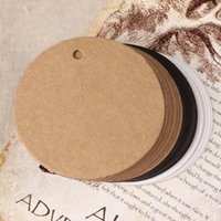 Wholesale cm Small Size Round Clothes Kraft Paper Hang Price Tag Event Present Card Scrapbooking Paper Label White Bookmark
