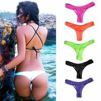 Wholesale single piece beach Shorts fashion lady swimming bottom swimming trunks single pants low waist triangle bikini