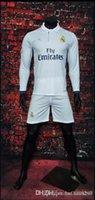 Wholesale AA A Real Madrid Set Long sleeve home and away jerseys Real Madrid RONALDO BENZEMA JAMES BALE shirt