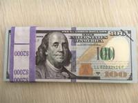 al por mayor regalos personales-Dinero / billete USD100 para los apoyos y la educación / el personal del banco que entrena el papel / el dinero falso / copia el dinero / el regalo de los niños