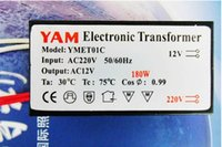 Wholesale 1 Piece W W W Hz LED Lamp Driver Power Supply Converter Electronic Transformer AC220V In AC12V Out for G4 Halogen Lamps