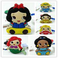 Wholesale Top Selling Cartoon Princess Lovely Cartoon Soft Decoration Accessories Flat PVC DIY Gadgets Fit Bracelets Shoe kids gift