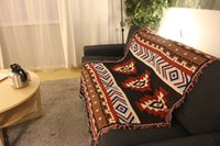 Wholesale Tribal Navajo towel blanket woven cotton rugs Ethnic Geometric Bohemian Aztec American indian tapestry throw home decor KILIM turkey