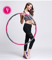 Wholesale Health Weighted Gym hula Hoop Fitness Exercise Foam Padded Workout Hoop New Exercise Bands Indoors Or Outdoors For Women Men Kids