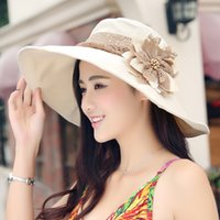 bask hats - Hat the other shore flower girl summer travel hat fold is prevented bask in beach hat uv sun hat
