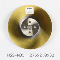 Wholesale 275x2 x32mm High quality HSS M2 circular saw blade Widely used in Cutting Various metals Ti coated