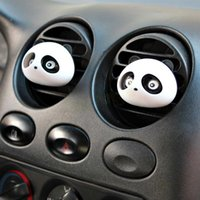 Wholesale 2pcs car styling Panda Car Perfumes original ml Solid Air Freshener OEM Air Conditioning Vent Flavoring In the Car parfums