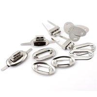 al por mayor cerradura a su vez el monedero-20Sets tono de plata Oval Purse Twist giro cerraduras de cierre DIY monedero bolso de hacer bolsa 32x17mm 26x16mm 32x20mm 32x19mm